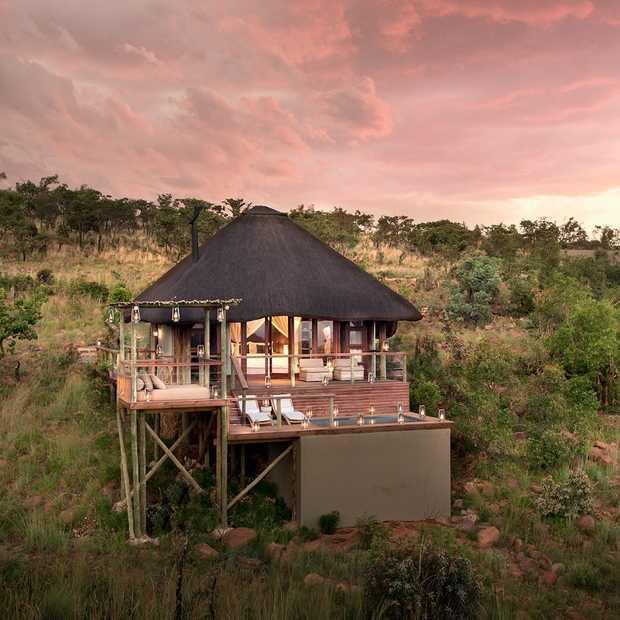 De Big 5 spotten vanuit deze super deluxe lodge in Zuid-Afrika