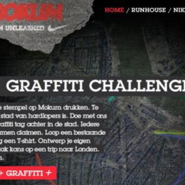 Nike+ Graffiti applicatie op Facebook
