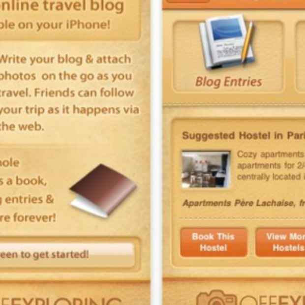 Off Exploring gratis dagboek app voor op reis