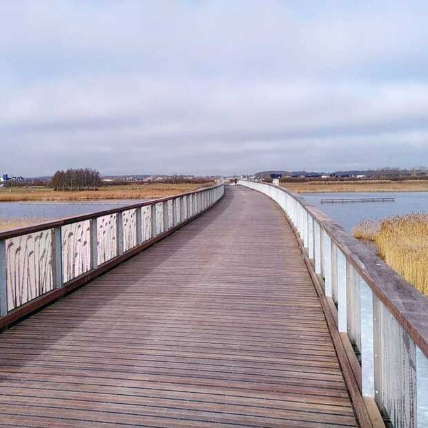 De Pieter Smitbrug in Groningen is nu de langste fietsbrug van Europa