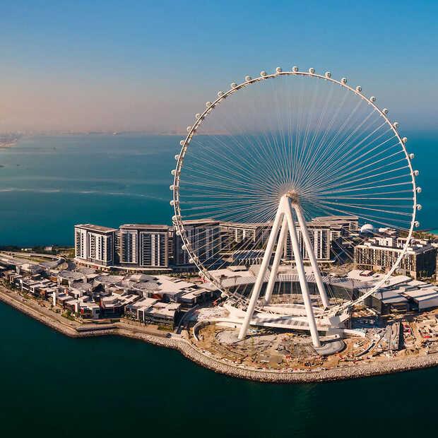 Het hoogste en grootste reuzenrad ter wereld is geopend in Dubai