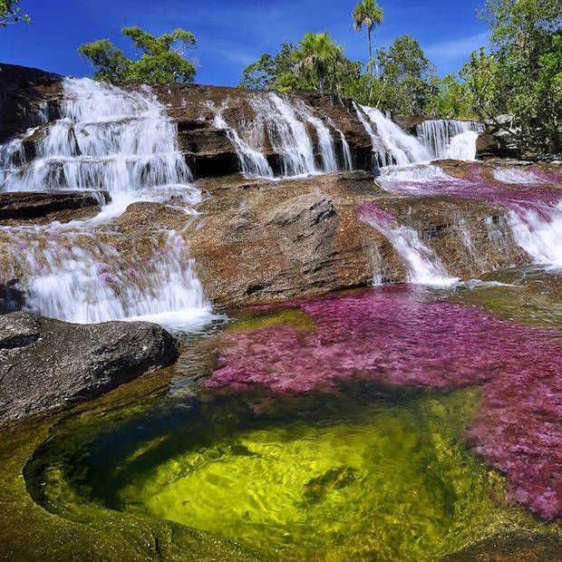 Is deze regenboog-rivier in Colombia een nieuw wereldwonder?