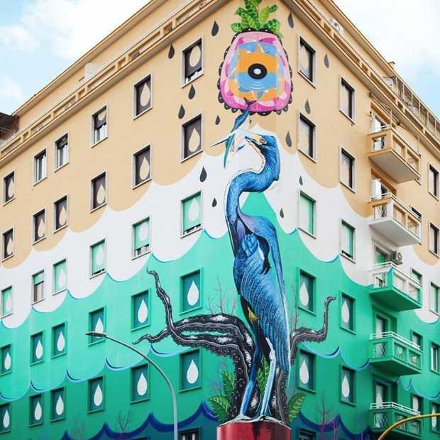 Rome heeft de eerste muurschildering die lucht kan zuiveren