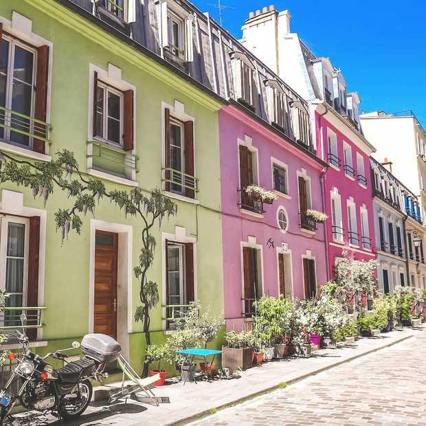 Rue Crémieux: het kleurrijkste straatje van Parijs