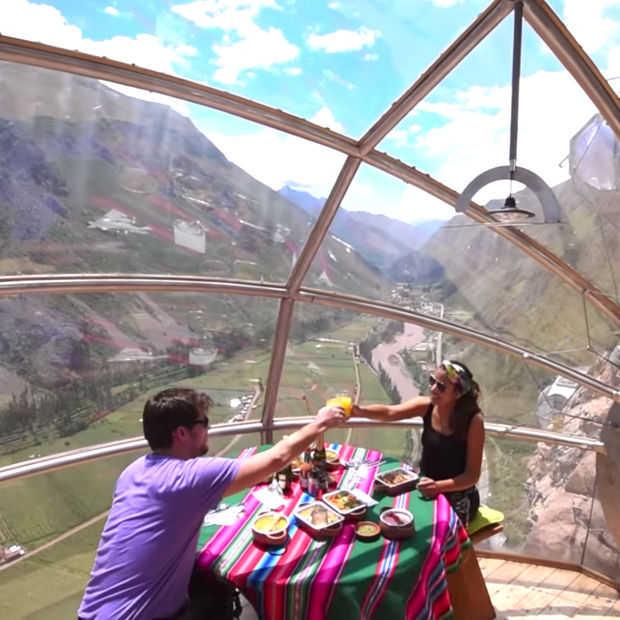Skylodge: prachtig slapen in Peru op vierhonderd meter hoogte