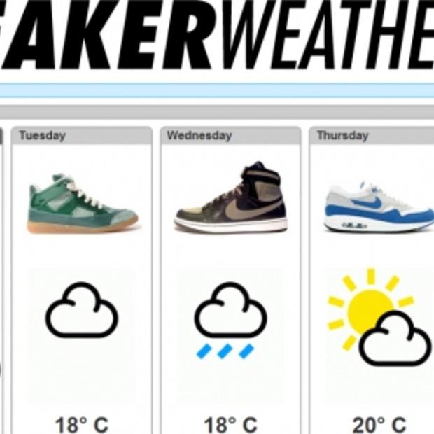 Check het weer en bijbehorende sneakers op sneakerweather.com!
