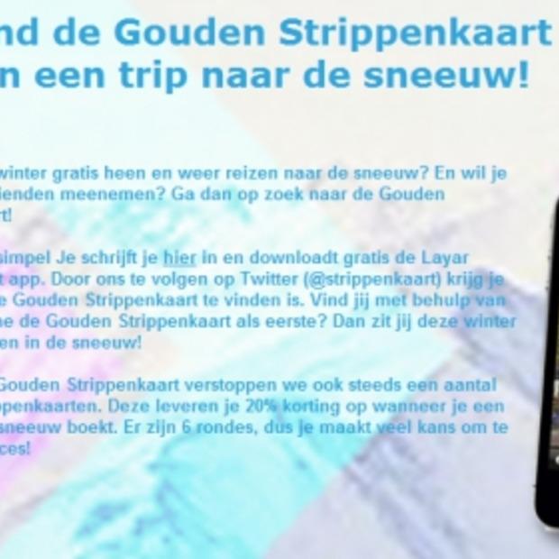 Vind de Gouden Strippenkaart en ga gratis naar de sneeuw!