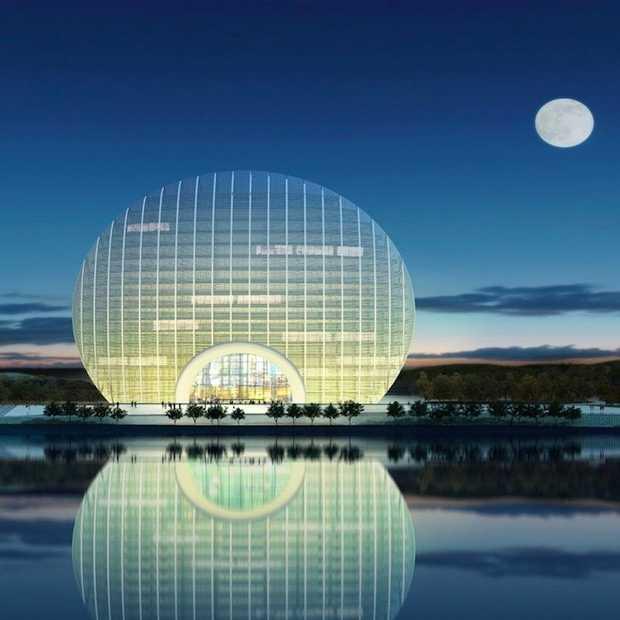 Nieuw Sunrise Kempinski hotel in China ziet eruit als een opkomende zon
