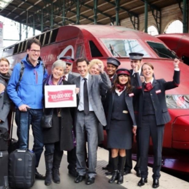 100 miljoenste reiziger voor Thalys