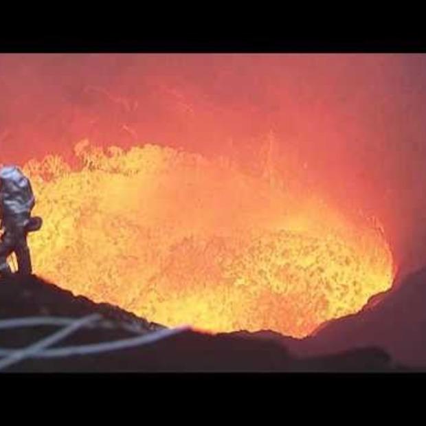 Video: Bizarre beelden van vanuit een vulkaan