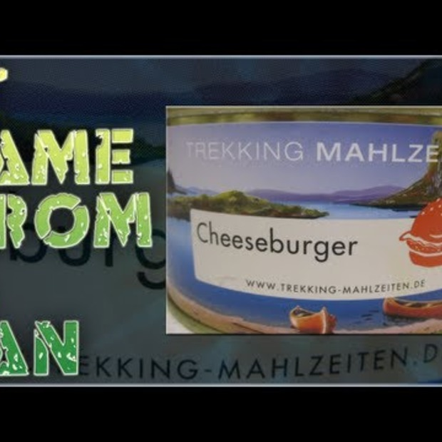 Video: Smaaktest van een cheeseburger uit blik [Video]