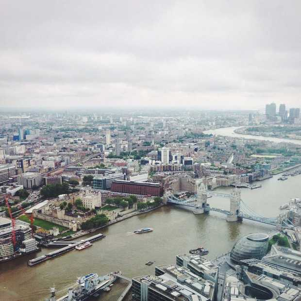 Londen van bovenaf: view from the Shard