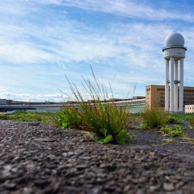 Verlaten Tempelhof Airport in Berlijn