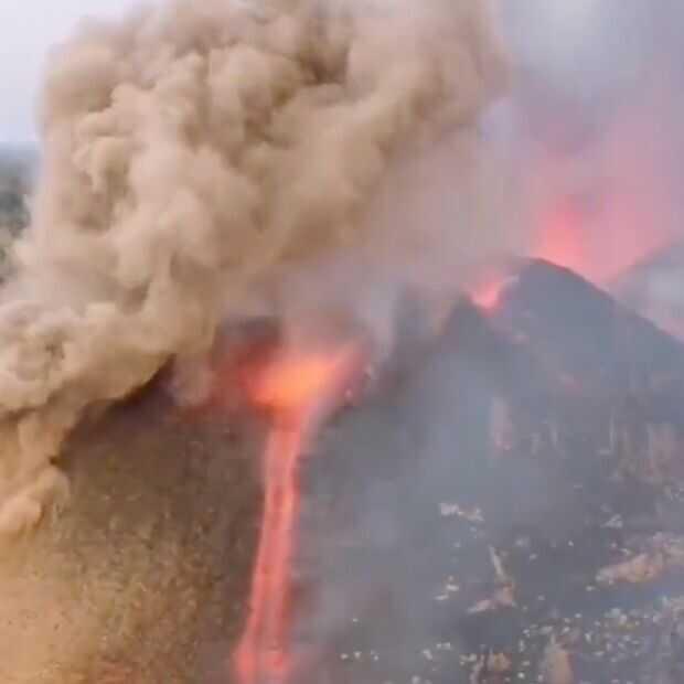 Vulkanisch spektakel op het Canarische eiland La Palma