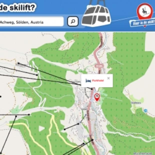 Bekijk hoe ver de skilift bij jouw accommodatie vandaan is op Waarisdeskilift.nl