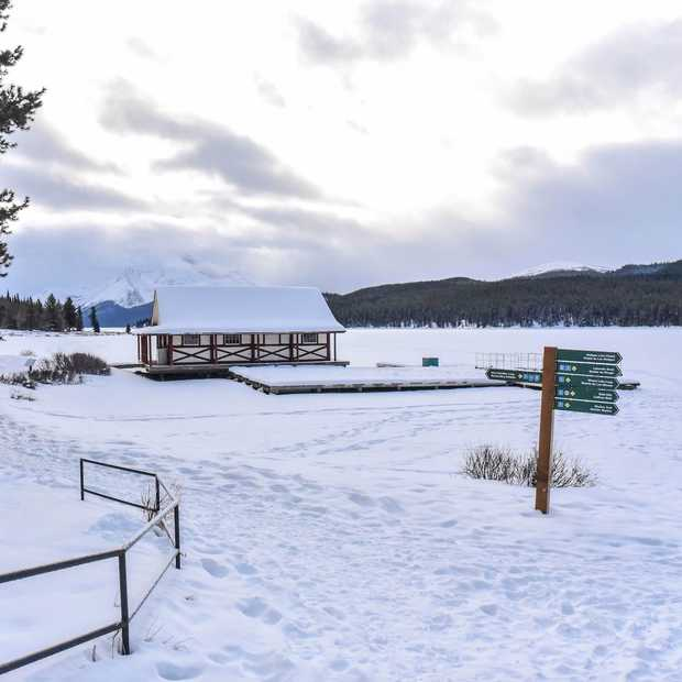 Magisch mooi: Maligne Lake in de winter